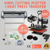 "28"" Vinyl Cutting Plotter and 5 in 1 Digital Heat Press Transfer Machine with Artcut Software"