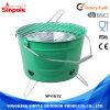 Unique Design Portable Bucket BBQ Charcoal Grill Tool