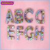 Factory Wholesale Gemstone Jewelry Alphabet a-Z Letter Charm