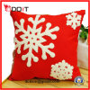 Christmas Decoration Snow Flight Red Plush Sofa Cushion