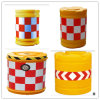 Yellow Roadside Water Barriers with Reflective Tape