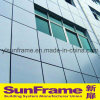 Aluminium Curtain Wall System with Composite Panel for Building Facade