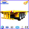 China Manufacturer 1/2/3/4 BPW Fuwa Axles 20FT 40FT 45feet Container/Utility/Cargo Flatbed/Platform Pan Extendable Flat Bed Tractor Truck Semi Trailer