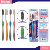 Adult Toothbrush with Activated Carbon Bristles 2 in 1 Economy Pack 826