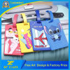 Cheap Customized PVC Rubber Luggage Tag with Free Art Design