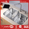 Kitchen Sink, Stainless Steel Under Mount Double Bowl Kitchen Sink with Cupc Certification