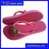 Girls PE Sole Flip Flops with Straps Decoration