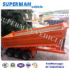 25cbm Tri-Axle Front Lifting Rear Dump Tipping Trailer Sale to Vietnam