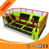 Cheap Small Indoor Trampolines Park with Basketball Frame Foam Pit