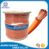 80% Gauge Orange PVC Welding Cable with Wooden Reel Packing