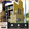 Easy Installing Gourd Shape Aluminum Lamp Pole Light for Garden
