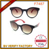Vintage Sunglasses with Black Frame and Pink Temple F7487