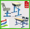 Fashion Single School Student Desk with PE Chair, School Furniture