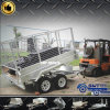 Strong and Galvanized Hot-Dipped Box Trailer Side Tipping