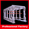 Hand Carved Stone Marble Garden Gazebo with Casting Iron Top