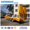 China Heavy Duty 60t Crane Lowbed Trailer for Cargo