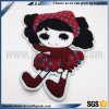 Garment Stick on Embossed Logo Colorful Cute Girl Embroidery Patch