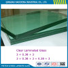 Thick 6.38mm Clear Laminated Glass with Good Raw Float Glass and PVB Interlayer