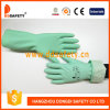 Ddsafety 2017 Yellow Household Latex Glove Flock Lined Diamond Grip
