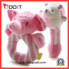 Pink Elephant Super Soft Plush Toddler Rattle Toys for Babies