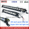 3W CREE Super Slim Car LED Light Bar Single Row 4X4 Offroad LED Light Bars