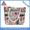 Women Flag Letter Print Canvas Travel Shopping Shoulder Bag