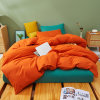 Micro Peach Fabric Contrast Color Bedroom Sabanass Cotton Bedding Set
