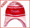 Fashion Embroidery Knitted Cap with Fleece Lining