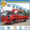 FAW5t 6t 160HP Cargo Truck Mounted with Telescopic Crane Price