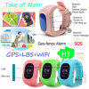 Multiple Language Kids Tracker Wrist Watch with Triple Position (H3)