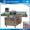 Automatic Round Bottle & Jar Positioning Wet Glue Label Labeling Equipment