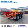40FT Three Axle Skeleton Frame Semi Truck Trailer for Sales