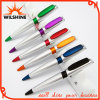 Silver Plastic Ball Pen with Color Parts for Promotion (BP0236S)
