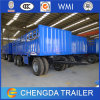 China 3 Axles Flatbed Cargo Full Trailer with BPW Axles