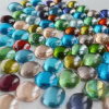 Transparent Landscaping Flat Glass Marbles