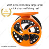 Classic CNC Machine Cut Light Weight Aluminum Large Arbor Clicker Fly Fishing Reel