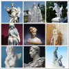 Hot White Outdoor Female Marble Carving Stone Statues Garden Sculpture