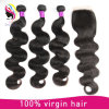 Body Wave Brazilian Virgin Remy Human Hair Extensions with Closure