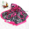 New Design Chiffon Silk Shawl Lady Fashion Scarf with Lace