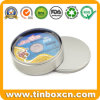 Round Metal Tin Can for CD/DVD Case Packaging Box