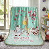 Cartoon Pattern Soft Summer Air Conditioner Children Blanket