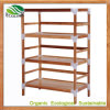 Bamboo 4-Tiers Storage Shoes Rack Shelves
