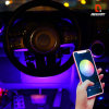 Latest Flexible LED Strips APP + Bluetooth Controlled Color Chasing Interior Exterior Ambient Evenglow Lighting Kit