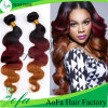 Wholesale Black and Red Omber 100% Virgin Human Remy Hair