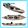 Professional Fishing Boat Kayak Sit on Top Pedal Canoe with Rudder