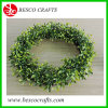 D26cm Topiary Round Grass Wreath with LED Battery Light