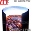 Creative LED Backlit Display for Trade Show Exhibition Cylinder Circle LED Display