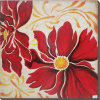Handpainted Abstract Flowers Oil Painting for Bedroom Painting with Frames Stretched Home Decoration (LH-500989)