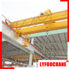 China Leader Manufacturer Double Girder Overhead Bridge Open Winch Crane