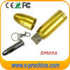Luxury Gold Bullet USB Flash Drive Metallic Pen Drive for Gift (EM052)